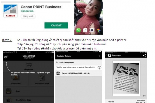 In tài liệu trên smartphone bằng ePrint