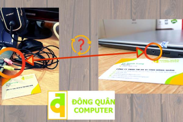 Làm sao để Laptop chỉ có 1 jack cắm nhận Micro của tai nghe 2 jack?