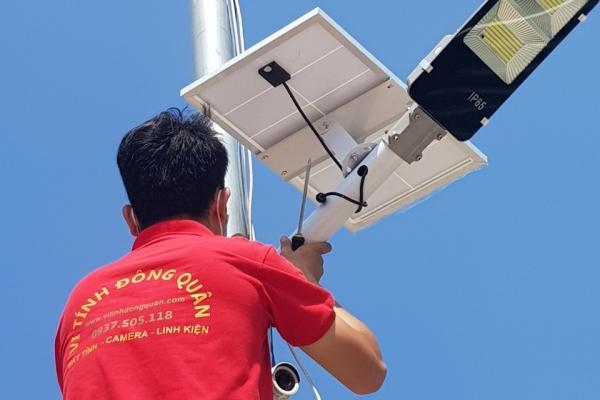 Công trình lắp đặt đèn năng lượng mặt trời Cty TNHH TM-DV Quách Tuấn
