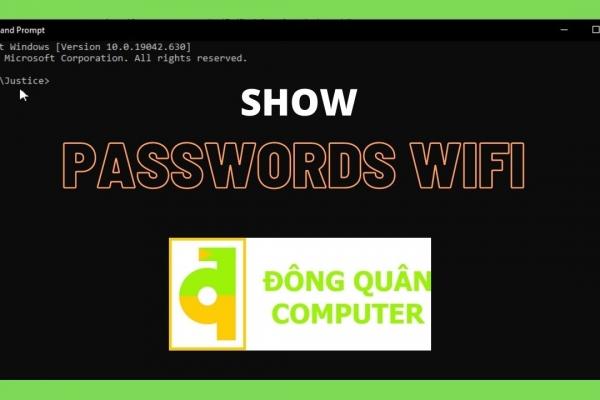 Hướng dẫn xem password wifi đã nhập trên Windows bằng CMD