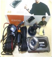 CAMERA HÀNH TRÌNH A8 HD (Lcd 4 Inch) + Camera Lùi Xe