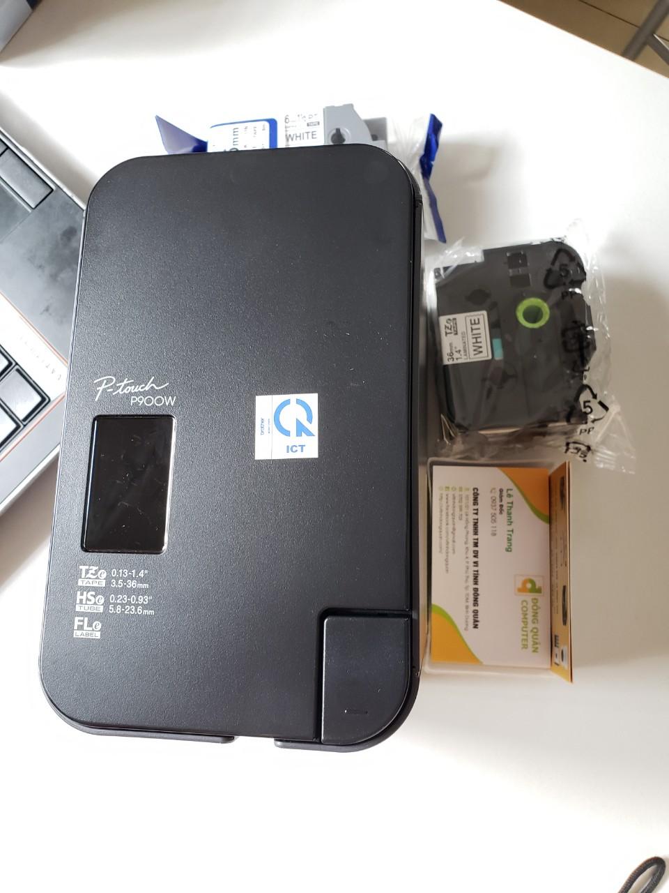 Máy in nhãn Brother PT-P900W - kết nối không dây