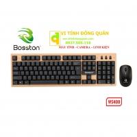 Bộ bàn phím chuột không dây BOSSTON WS 400 - Hàng Chính Hãng