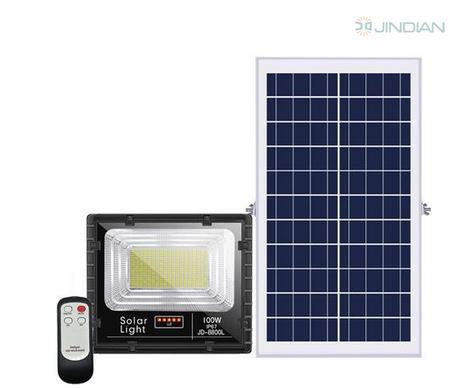 Đèn pha năng lượng mặt trời JinDian 100W JD-8800L
