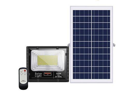 Đèn pha năng lượng mặt trời JinDian 200W JD-8200L