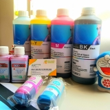 Mực DYE-UV (chai lớn, màu xanh) cho máy in Canon, Epson, HP phun màu