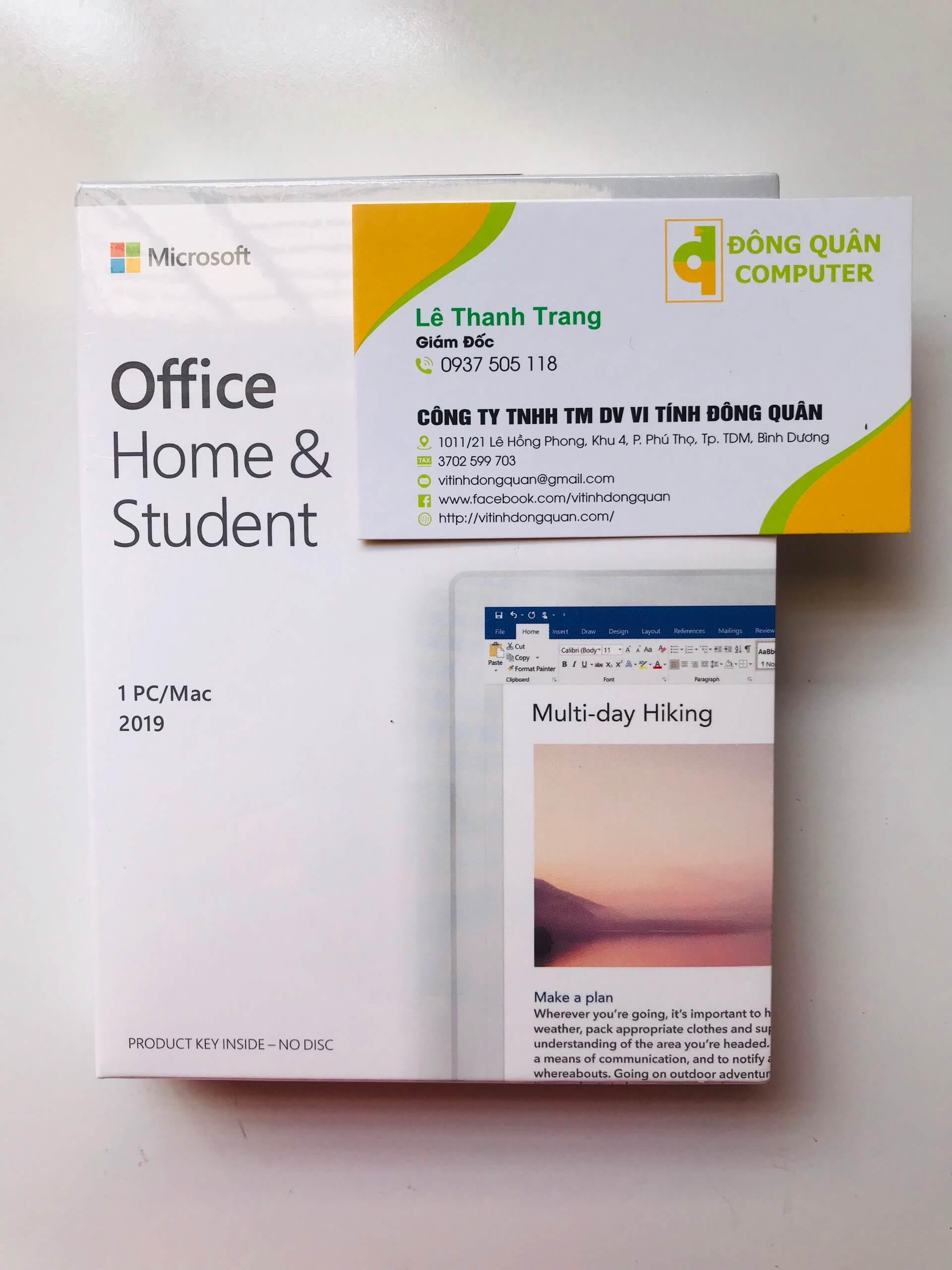 Key kích hoạt bản quyền Office 2019 Home Student 1Pc/Mac
