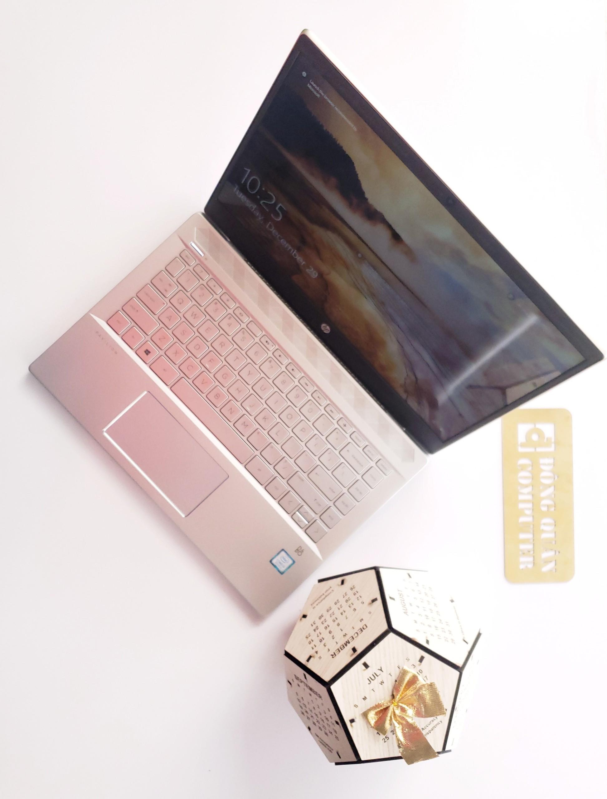 """Laptop HP Pavilion 14-ce1008TU/i5-8265U/4G/HDD 1TB + SSD128GB/14""""FHD/Win10/Gold/Vỏ nhôm"""