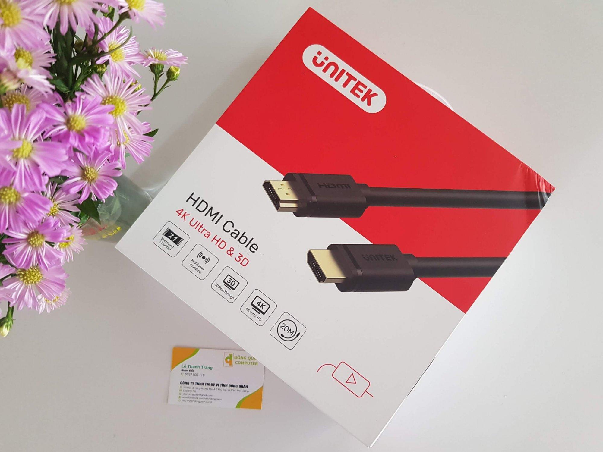 Cáp HDMI 70M 2.0 4K UNITEK Y-C176U