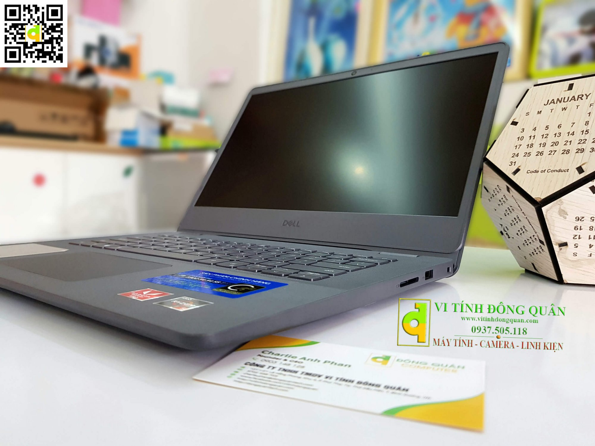 "Laptop Dell Vostro V3405 V4R53500U001W/AMD R5 - 3500U/4G/256G SSD/14""FHD/Win10/Đen"