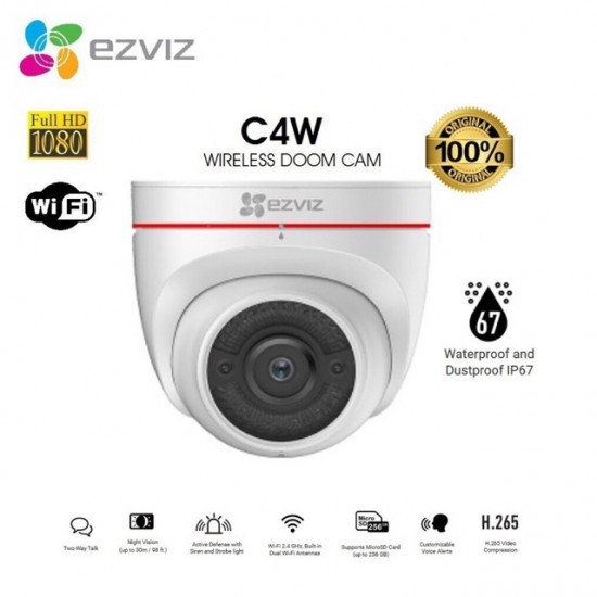 Camera Wifi thông minh EZVIZ C4W 1080P (CS-CV228-A0-3C2WFR)