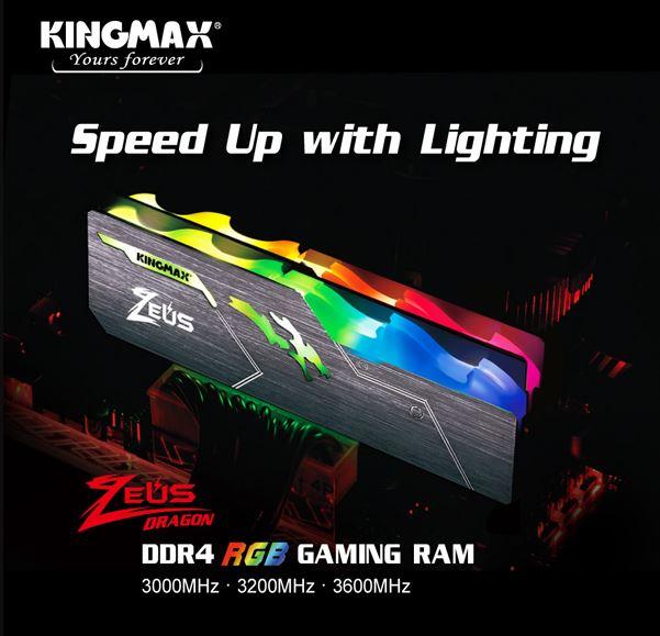 RAM KingMax Gaming Zeus Dragon RGB DDR4 8GB 3600MHz