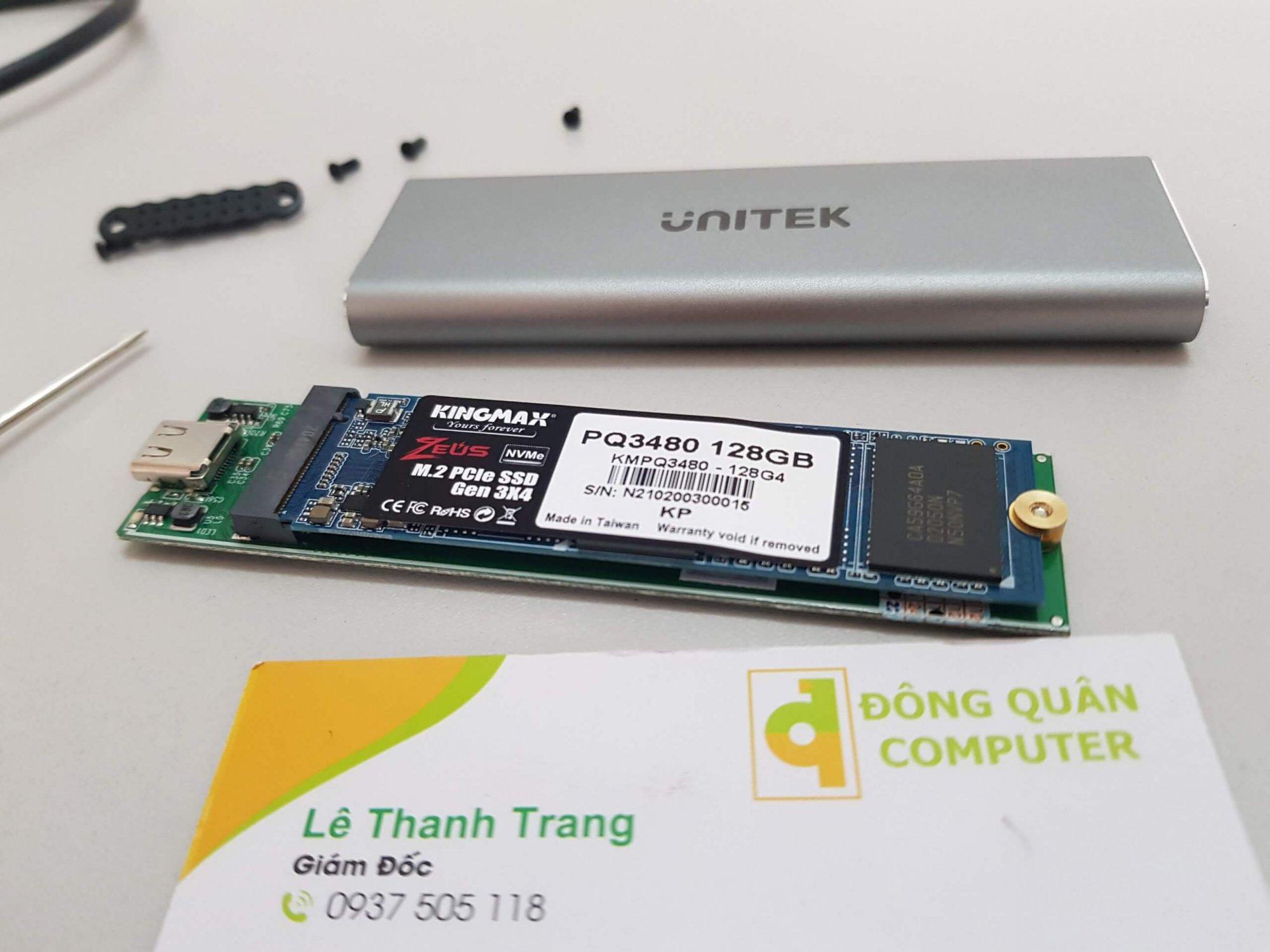 Box ổ cứng UNITEK SSD PCIe/NVMe M.2 USB3.1 Gen2 - S1201A