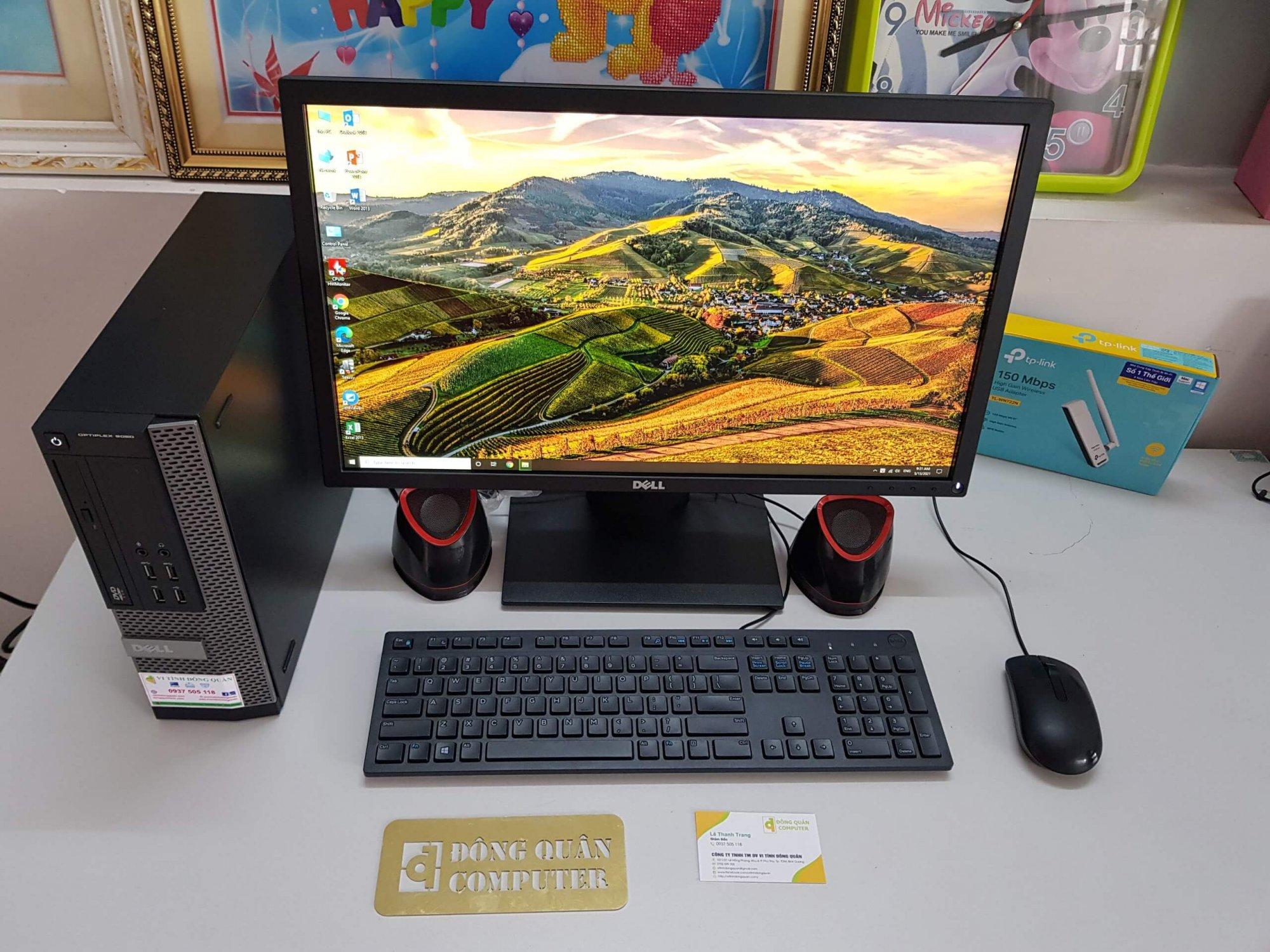 Máy bộ Dell 9020 Core i7 4770/ Ram16GB/ HDD500GB + SSD120GB/ Chuột + Phím/ Màn hình 23inch
