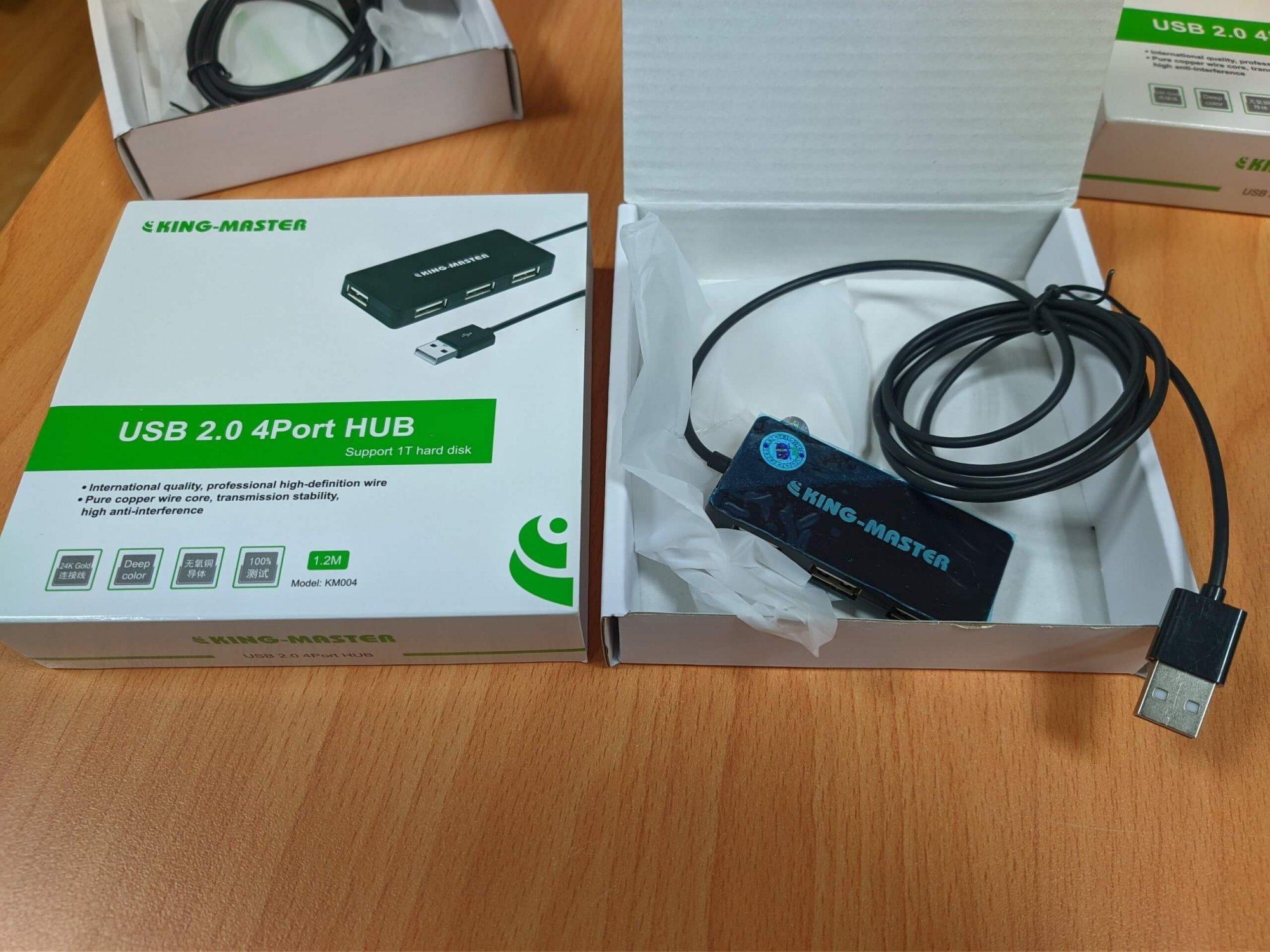 Bộ chia / Hub 4 cổng USB 2.0 - KINGMASTER KM004