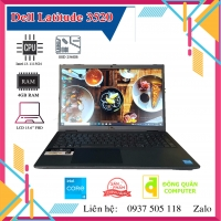 Laptop xách tay DELL Latitude 3520 i3-1115G4 | 8GB | SSD 256GB | 15.6inch | Đen
